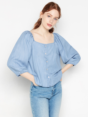 Lyocell denim bluse