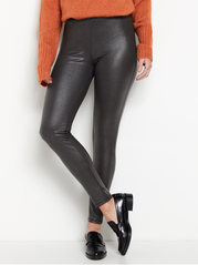 Coated sorte leggings