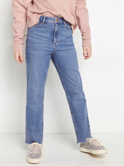 Wide fit high waist cropped jeans