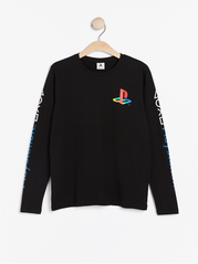 Langærmet top med Playstation print