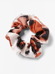 Mønstret satin scrunchie