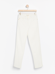 NEA Hvide stright high waist jeans