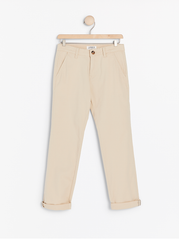 Beige regular fit chinos