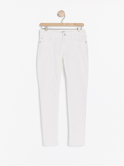 Hvide slim fit cropped jeans