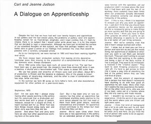 A Dialogue on Apprenticeship