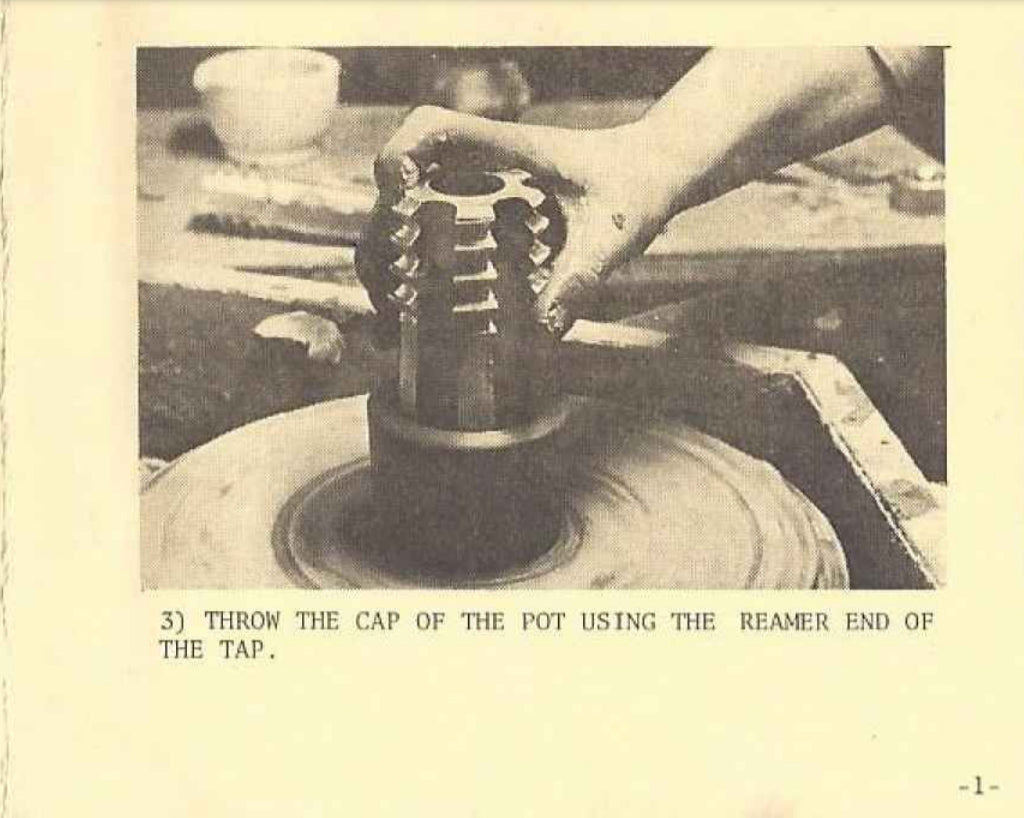 Ream the cap with the end of the tap