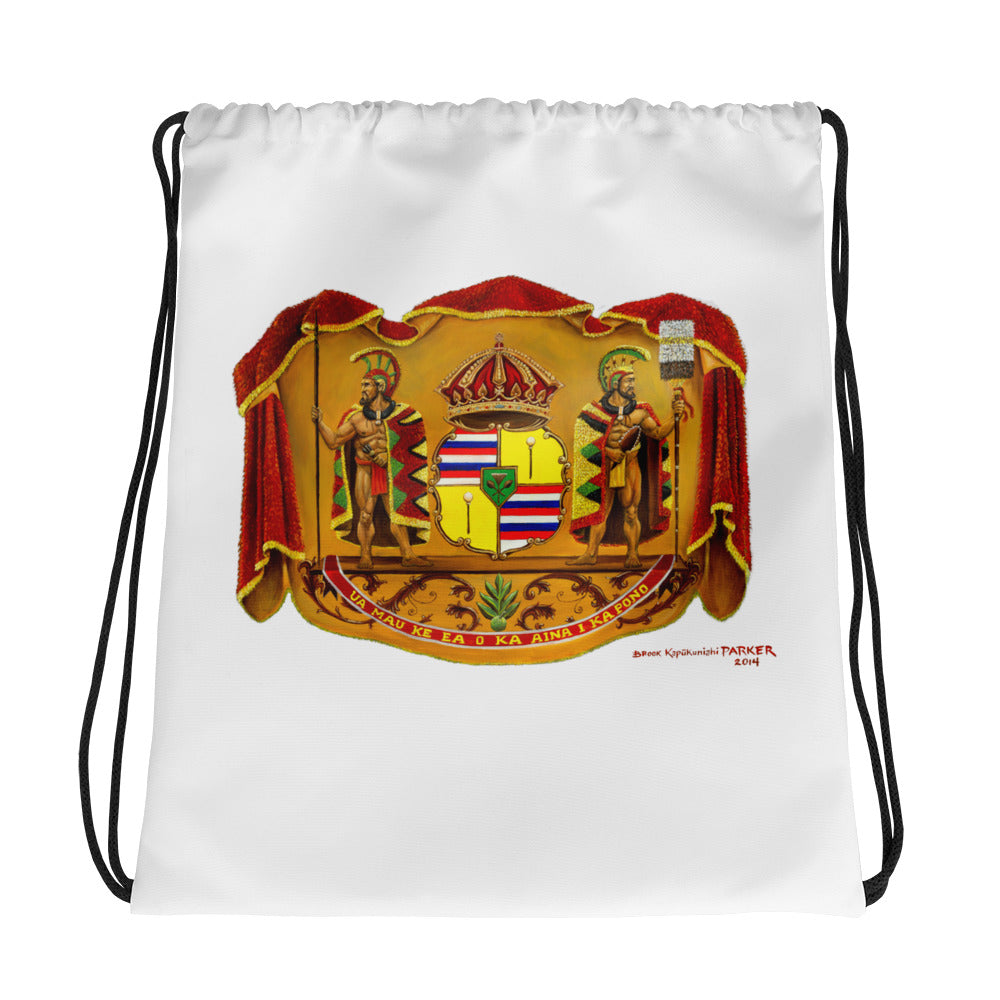 Hawaiian Coat of Arms - Drawstring bag