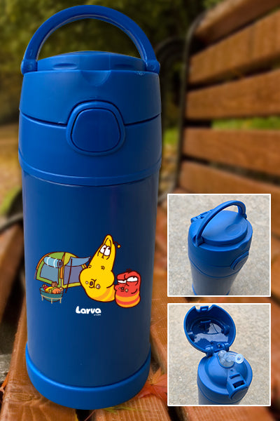 Larva Camping - Food Time Color Printed 12oz Bottle