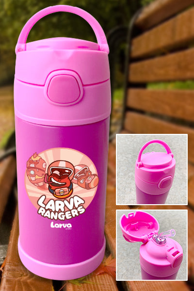 Larva Rangers Red Color Printed 12oz Bottle