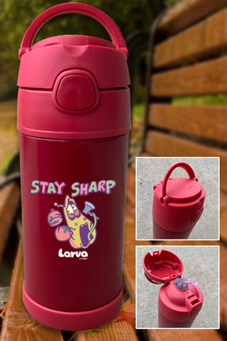 Larva Zombie Attack Stay Sharp Color Printed 12oz Bottle