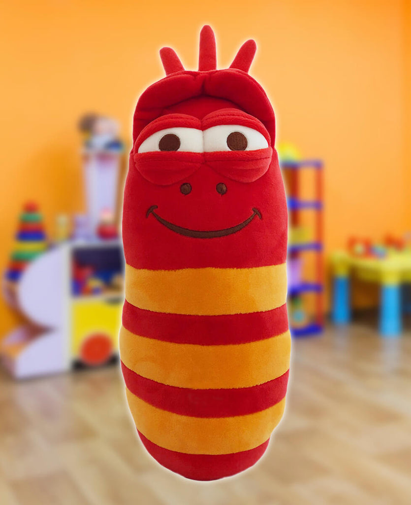 Red Larva Plush With Sound