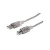 Cable Manhattan USB B Macho - USB 2.0 Macho (340458) - Rivers Systems