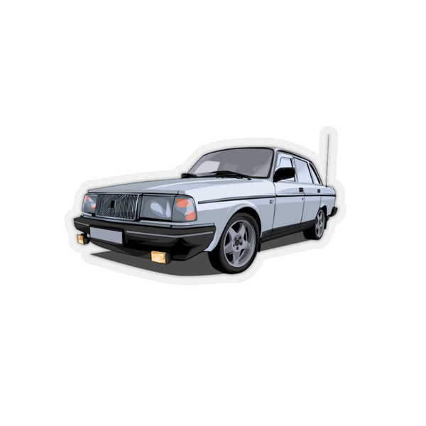 Volvo 240 Sedan Silver Sticker