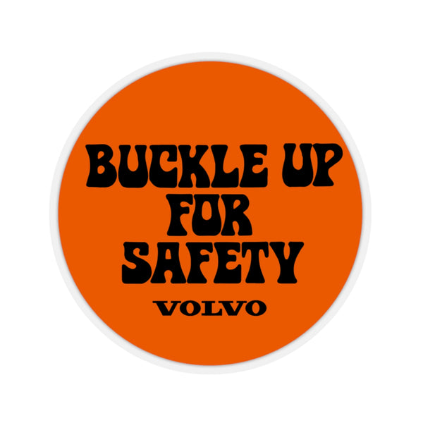 """Buckle Up"" Orange Kiss Cut Sticker"