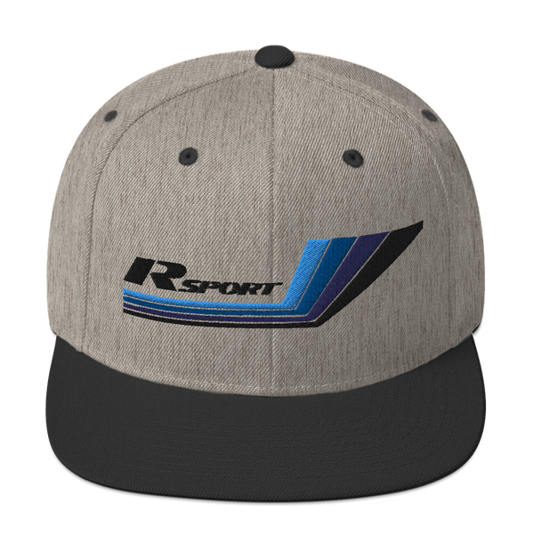 R Sport Group A Black Font Colorful 3D Embroidered Snapback Hat