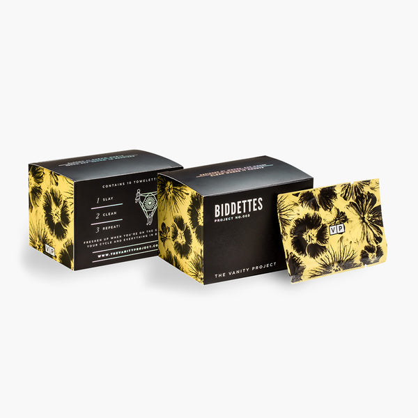 Biddettes - Intimate & Scented Feminine Wipes for odor
