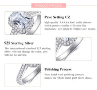 925 Sterling Silver Rings For Women Wedding Jewelry Bijoux AAAAA zirconia vintage Accessories Engagement Bague Bijouterie