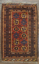 "Load image into Gallery viewer, Afghan Mina-Khaki Belouch Rug - 2'5"" x 4' - Heriz & Merchant Rugs"