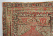 "Load image into Gallery viewer, Antique Anatolian Distressed Rug - 3'2"" x 4'11"" - Heriz & Merchant Rugs"
