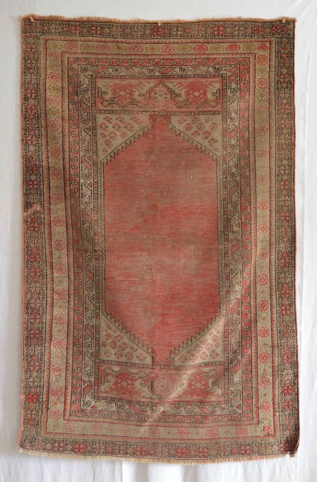 Antique Anatolian Distressed Rug - 3'2
