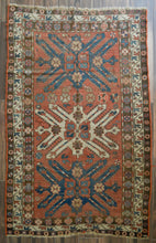 "Load image into Gallery viewer, Antique Eagle Kazak Rug - 4'10"" x 8' - Heriz & Merchant Rugs"