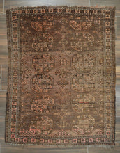 "Load image into Gallery viewer, Antique Afghan Ersari Rug - 3'6"" x 4'6"" - Heriz & Merchant Rugs"