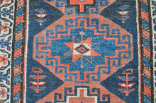 "Load image into Gallery viewer, Semi-Antique Kurdish Runner Rug - 3'6"" x 10'1"" - Heriz & Merchant Rugs"