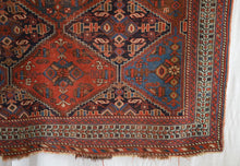 "Load image into Gallery viewer, Antique Tribal Rug - 3'11"" x 4'11"" - Heriz & Merchant Rugs"