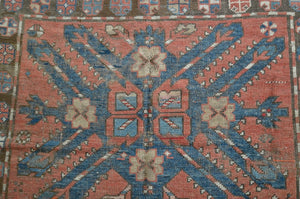 "Antique Eagle Kazak Rug - 4'10"" x 8' - Heriz & Merchant Rugs"