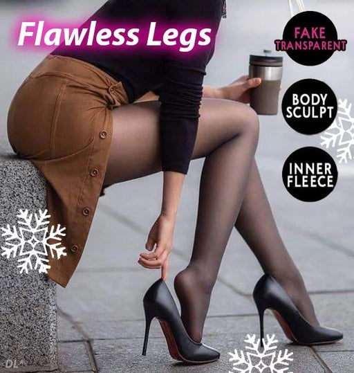 (Last day-50% OFF)Fake Translucent Warm Fleece Pantyhose
