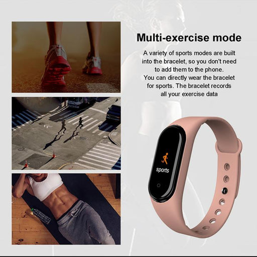 (Free Shipping)M4 new color screen sports smart bracelet heart rate blood pressure sleep monitoring