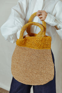 Raffia Palm Basket Bag