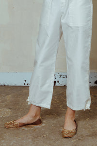 L'HERITAGE: Cotton Trousers