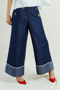 REJINA PYO: 'Bailey' Denim Trousers