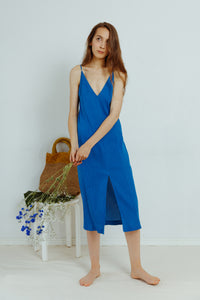 HER LINE: Split Slip Dress