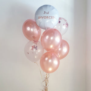 Rose Gold Just Divorced Balloon Bouquet - Just Divorced