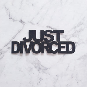 Divorce Party Cake Toppers - Just Divorced