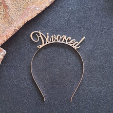 "Load image into Gallery viewer, Rose Gold ""Divorced"" Metal Headband / Crown - Just Divorced"