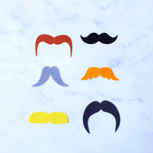 Set of 12 Silicone Glass Markers - LUSCIOUS LIPS & MACHO MOUSTACHES - Just Divorced