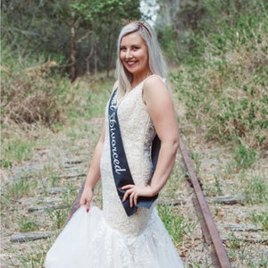 Just Divorced Black Satin Sash - Just Divorced