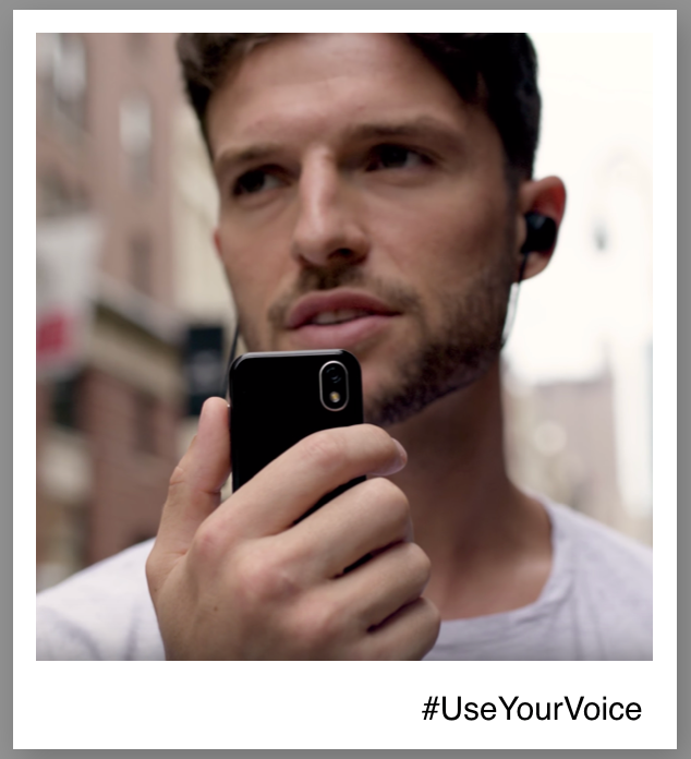 Using Voice-Activated Technology on Palm smartphone