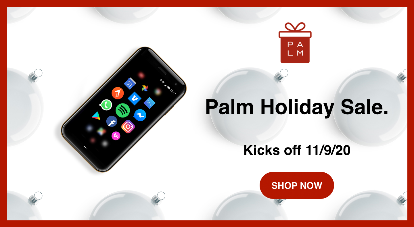 Palm small smartphone holiday sales