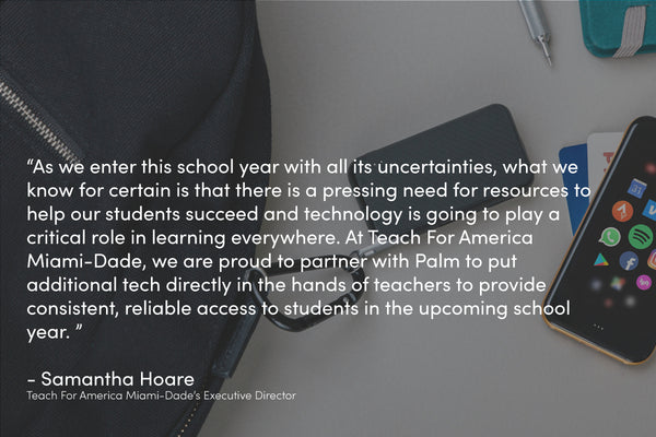 Palm Partners with Teach for America