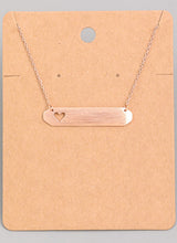 Load image into Gallery viewer, Heart Cutout Bar Necklace