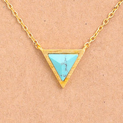Triangle Stone Pendant Necklace