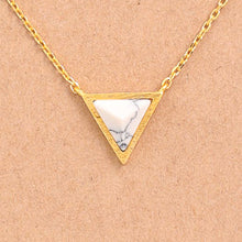 Load image into Gallery viewer, Triangle Stone Pendant Necklace