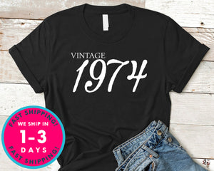 Vintage 1974 T-Shirt - Birthday Shirt