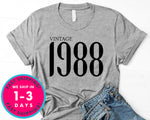 Vintage 1988 T-Shirt - Birthday Shirt