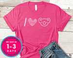 I Love Koala T-Shirt - Animals Shirt