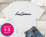 Halloween Word T-Shirt - Halloween Horror Scary Shirt